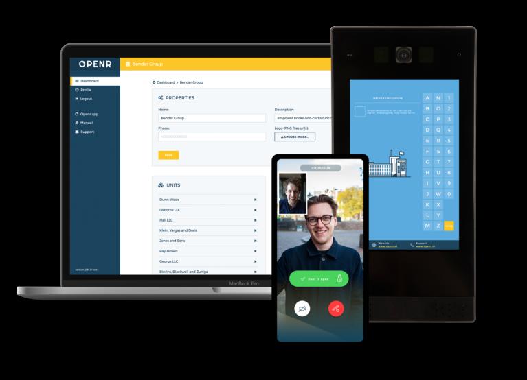 Openr Producten; Openr Draadloze Intercom, Openr App & Openr Beheeromgeving